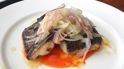 Catalunya - Grilled Mackerel with Fennel Slaw and Piquillo Pepper Coulis