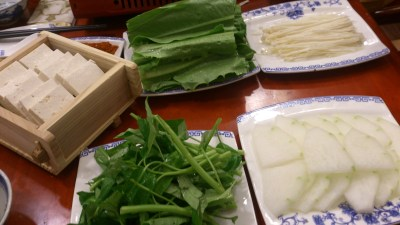 Restaurant Manchurian 满族全羊铺 - Vegetables and more side dishe for hotpot