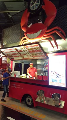 Cajun On Wheels At Pasar Bella Suntec City - Overview of stall