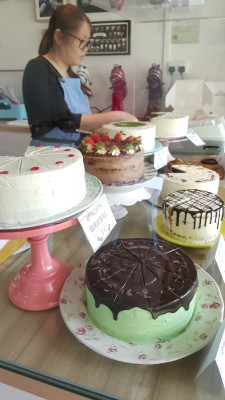 My Sister Bakes - Available Cakes on display