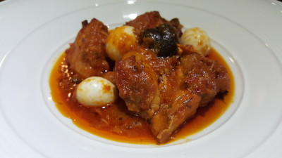 The Buffet Egg-Xperience by Street 50 Restaurant and Bar - Oven-roasted Chicken with Poached Eggs in Spicy Tomato Sauce