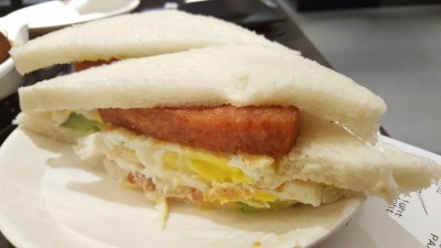 Xin Wang Hong Kong Cafe Harbourfront Centre - Luncheon Meat with Egg Sandwich