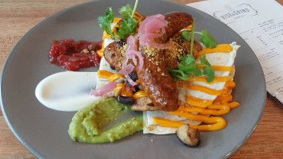 Rise And Grind Co On HollerOut App - Hei Amigo: Our take on Huevos Rancheros ($16)