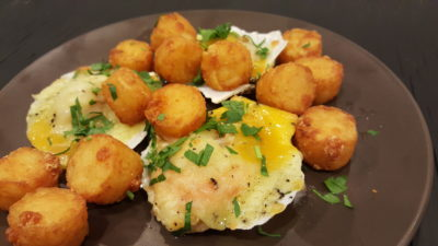 The Betterfield At The Treasury, High Street, Singapore - Red Cheddar Scallops Tots ($16)