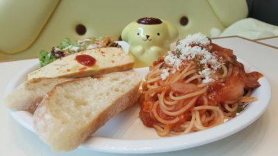 Pompompurin Cafe At Orchard Central, Singapore - Spaghetti Napolitana ($26.99)