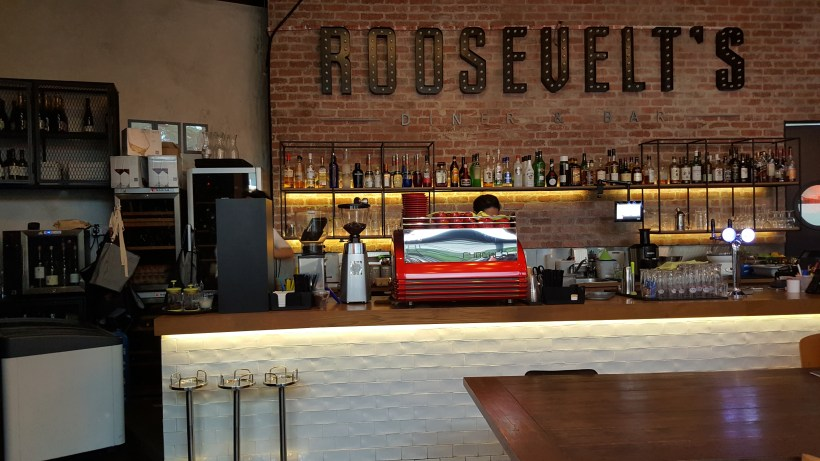 Roosevelt's Diner and Bar Revamped Menu 2016, Outram Park, Singapore - Bar Counter Overview