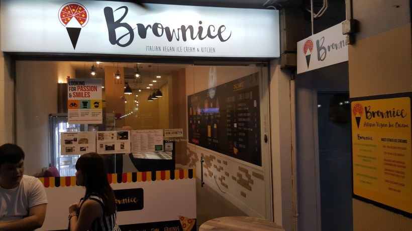 Brownice Italian Vegan Ice Cream and Kitchen At East Coast, Singapore - Brownice Facade