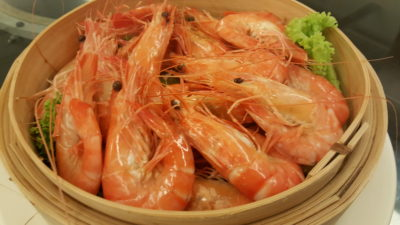 Red House Seafood Restaurant At Quayside, Roberston Quay, Singapore - Steamed Prawns
