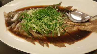 Red House Seafood Restaurant At Quayside, Roberston Quay, Singapore - Steamed Tiger Grouper Fish with Superior Soya Sauce