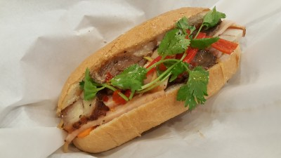Pho Street New Dish Bun Cha At Bedok Mall - Banh Mi Combination with Pork belly, Chicken ham and grilled beef ($6.90)