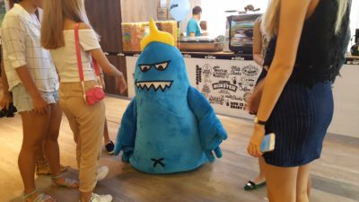Sweet Monster at Velocity With New Menu - Blue Monster making his appearance