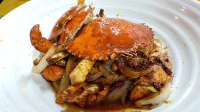 Si Chuan Flavour Crab Stall 川味坊香辣蟹 at People's Park Food Centre, Singapore - Spicy Crab 香辣蟹 ($26)
