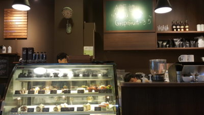 The Pound Cafe With Korean Vibes At Jalan Sultan in Bugis, Singapore - Counter of The Pound Cafe