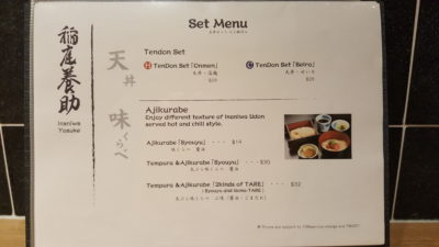 Inaniwa Yosuke Handmade Udon At Japan Food Town, Orchard, Singapore - Set Menu