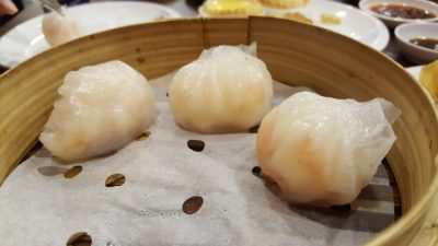 "London Fat Duck @ VivoCity, Harbourfront, Singapore - Steamed Shrimp Dumpling ""Har Kao"" ($6.00)"