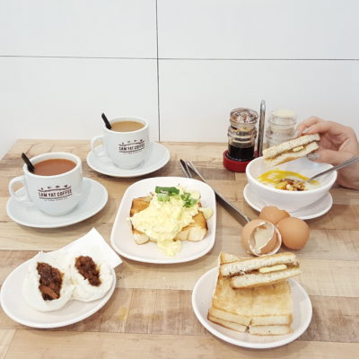 Sam Yat Coffee By Tiong Bahru Pau At Tiong Bahru Singapore - Our breakfast