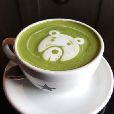 Liberica Coffee At South Quarter, Jakarta, Indonesia - Green Tea Latte Hot (IDR 50k)