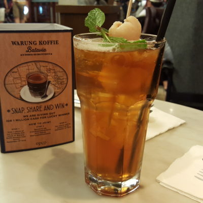Warung Koffie Batavia At Grand Indonesia, Jakarta, Indonesia - Lychee Flavoured Iced Tea (IDR 30k)