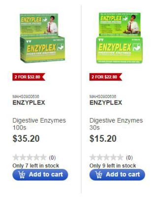 Aid Digestion and Increase Immunity With Enzyplex and Enveron - Selection of Size at Guardian E Store