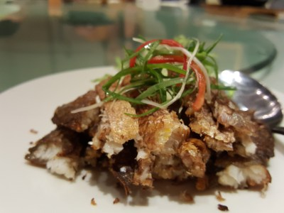 Putien Yellow Croakers In Five Different Dishes - Deep-Fried Yellow Croaker 咸香黄花鱼 ($12)