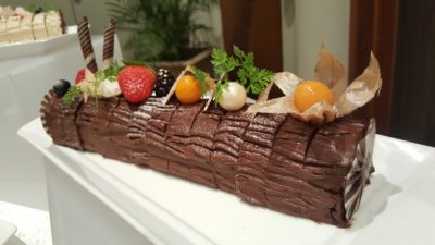 Dazzling Christmas At Furama RiverFront In Outram, Singapore - Chocolate Sour Cherry Log Cake ($60+)