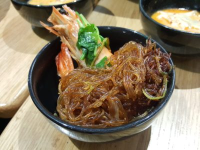 Cha Thai Revisit at Telok Ayer, Singapore - Closed-up of the Glass Noodle in the Premium Giant Tiger Prawns Glass Noodle Claypot