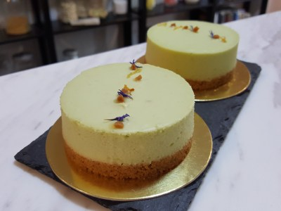 "Lucia Cakes At Club Street In Telok Ayer, Singapore - Avocado Lime Cheesecake, 7"" ($45)"