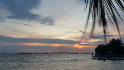 Sand Bar Weekend BBQ @ Siloso Beach In Sentosa, Singapore - Sunset View from Sand Bar