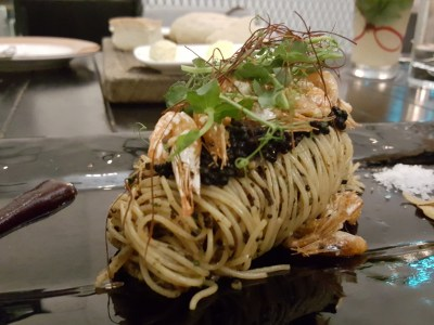 Portico Prime At Dempsey Singapore - Chilled truffle angel hair pasta