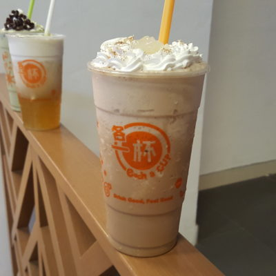 Each A Cup Christmas Flavours At Stadium, Singapore - Cranberry Coffee Freeze with Nata De Coco ($5.90)
