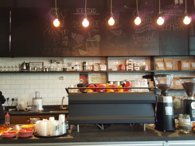 RevoluShen Wave At Revolution Coffee In One North, Singapore - Counter