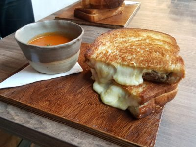 Alter Ego Cafe By A Poke Theory At Esplanade - Grilled Cheese ($11) add braised beef short rib filling ($3)