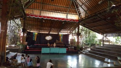 Saung Angklung Udjo In Bandung, Indonesia - Performance hall with stage view