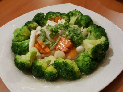 Spicy Thai Thai Cafe Revisit at Aljunied - Stir-Fry Broccoli with Scallops 干贝炒西兰花 ($20)