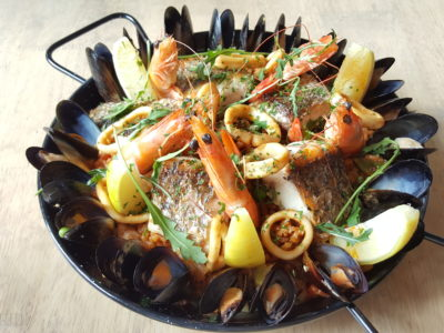 Portico Platos At Timbre+ - Signature Seafood Paella ($Single Portion $9 | Glutton Portion for 1 to 2 Pax $16 | Whole Paella Pan for 4 to 5 Pax $50)