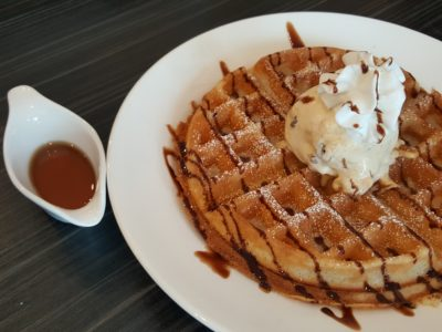 Chef's Hat At Hougang Green Singapore - Belgium Waffle with ice cream ($9.90)