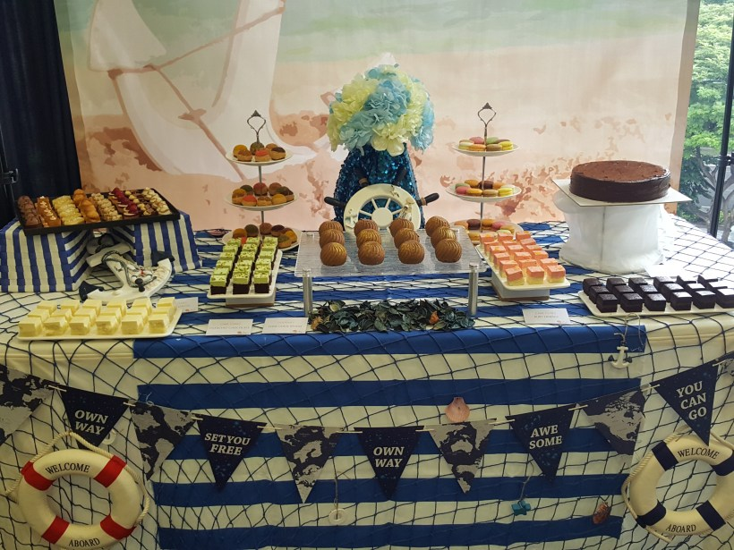Theme Dessert Table By Pastry Den - Navy Theme Dessert Table