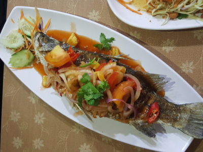 Jai Siam Restaurant At Dhoby Ghaut Exchange - Deep Fried Fish with Sweet & Sour Sauce
