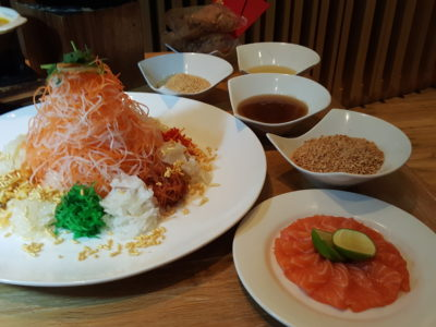 Celebrating Lunar New Year 2017 With 10 At Claymore At Pan Pacific Orchard Singapore - Yu Sheng