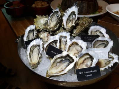 Celebrating Lunar New Year 2017 With 10 At Claymore At Pan Pacific Orchard Singapore - Five varieties of freshly shucked oysters