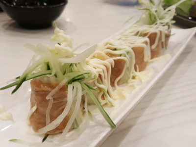 Sushi Mentai At Junction Nine In Yishun, Singapore - Crabstick & beancurd skin wrapped with rice sheet ($5.50)