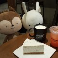 Dal.komm Cafe At Centrepoint - Another pose of Mascots with food and drinks