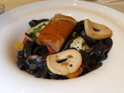Sufood Introduces New Salad And Truffle Dishes To Their 8-course Dinner Set - Wild Mushroom Charcoal Tagliatelle