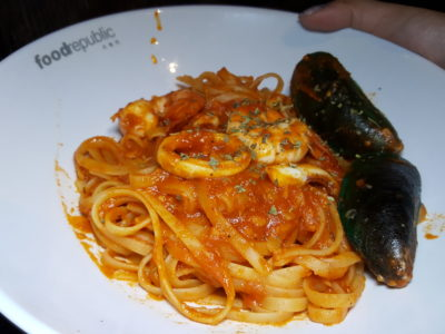 Revamped With New Tenants At Food Republic VivoCity - The Humble Hut, Seafood Arrabiatta Pasta ($9.90)