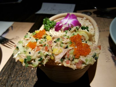 Nice Meeting You 很高兴遇见你, The Jin Qiao Outlet, Pudong - Tuna Fish With Mix Vegetable And Flying Fish Roe 金枪鱼手绢 (RMB 12 each - min 2)