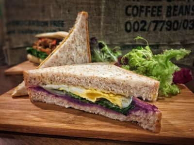 O'Coffee Club Xpress @ Raffles Xchange, O'Coffee Club Launches 'Grab & Go' Concept – Purple Sweet Potato & Egg Sandwich