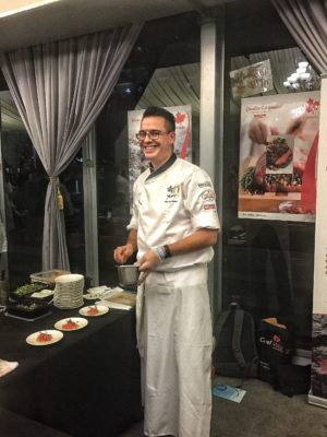 World Gourmet Summit 2017 – Awards of Excellence Presentation Ceremony and Opening Reception - Canadian Chef Quentin Glabus