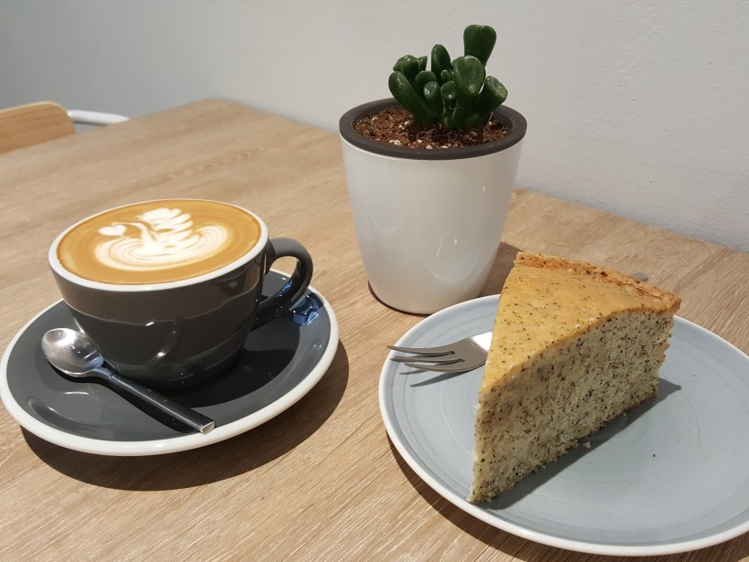 Local Coffee Roaster Dutch Colony Coffee Co At UE Square - Cappuccino and Cake