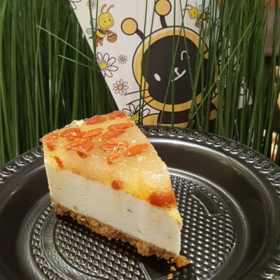 Queen Bee Mother's Day Cheesecake By Cat & The Fiddle X Nature's Farm - A slice from the whole cake