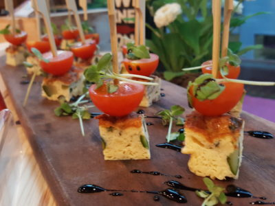 Storming Culinary On Kitchen With A 3-course Modern Mediterranean Meal - Canapes before the class, Tortilla with Zucchini